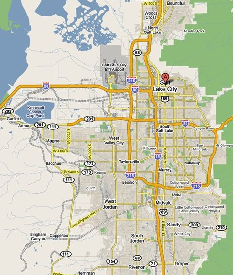 zip code map salt lake Salt Lake City Airport Zip Code Map zip code map salt lake